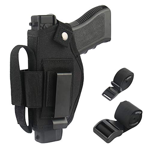 Car Clip Strap Set - Gun Concealed Carry Holster | IWB OWB Car Holster Magazine Holder| Right Left Hand | Fits S&W/Glock 19/380/Ruger 9 mm/Springfield XD9 All Similar Handguns ...