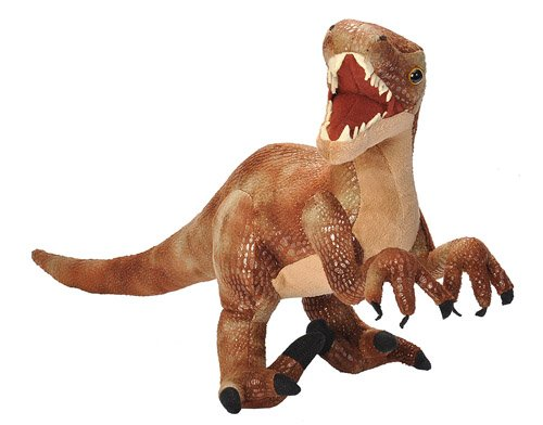 Wild Republic Velociraptor Plush, Dinosaur Stuffed Animal, Plush Toy, Gifts for Kids, Dinosauria 17 (Dinosaur Stuffed Plush)
