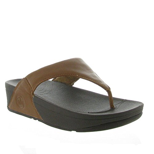 FitFlop Women's Lulu Thong Sandal,Black,11 M US