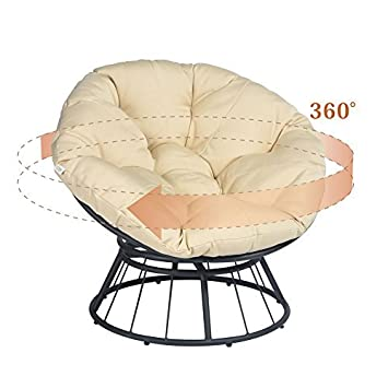 Astounding Atr Deluxe 360 Swivel Papasan Chair With Soft Cushion Unemploymentrelief Wooden Chair Designs For Living Room Unemploymentrelieforg