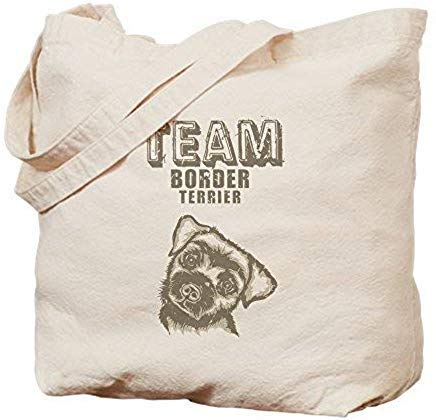 (LilithCroft99 Border Terrier Canvas Tote Bags Funny Reusable Shopper Tote Bag Shopping Bag for Women)