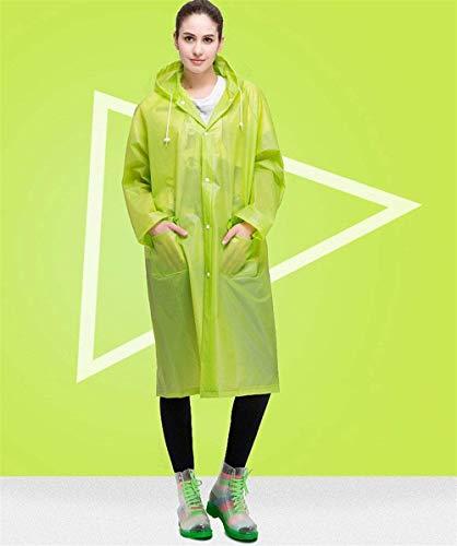 Donna Style Cappuccio Da Grün Borse Pioggia Frontali Emmay Con Impermeabile Festa EWnREqZS