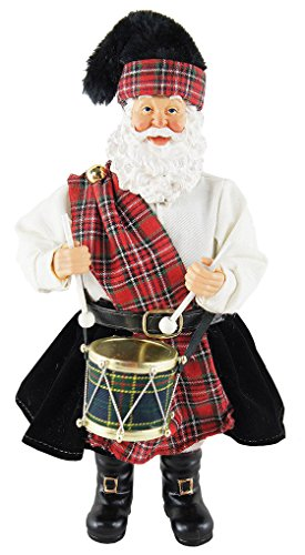 Santa's Workshop 5600 Scottish Drummer Santa Figurine, 12