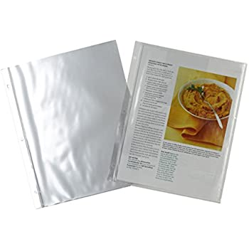 Captivating Meadowsweet Kitchens Plastic Full Page Recipe Protectors For 3 Ring Binders