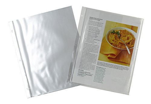 Meadowsweet Kitchens Plastic Full Page Recipe Protectors for 3 ring binders