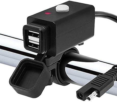 Dual USB Motorcycle USB Charger Kit