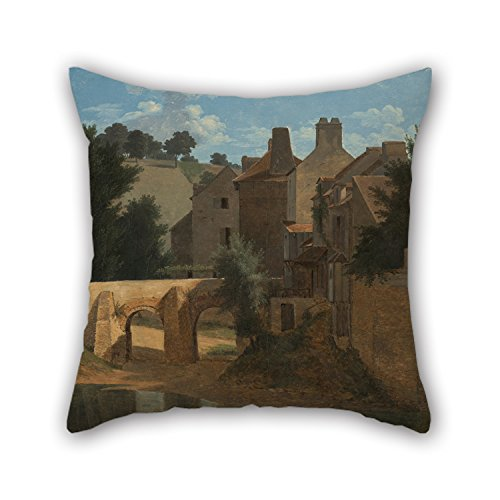 [Alphadecor Pillowcase Of Oil Painting Jean-Victor Bertin (French - View In The Ile-de-France,for Dining Room,family,kids Girls,bf,wedding,boys 20 X 20 Inches / 50 By 50 Cm(2 Sides)] (Killer Ballerina Costume)