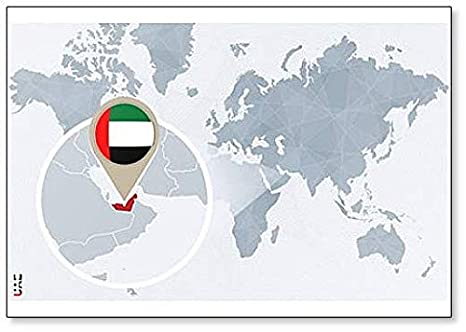Amazon.com: World Map With Magnified United Arab Emirates ... on afghanistan world map, sierra leone world map, norway world map, bahrain world map, china world map, persian gulf map, uganda world map, uzbekistan world map, slovakia world map, arabian sea world map, jordan world map, cambodia world map, austria world map, iraq world map, sudan world map, middle east map, cyprus world map, guatemala world map, pakistan world map, kuwait world map,