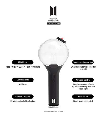 BTS Official Light Stick ver.3 + Idolpark Gift by Bighit shop (Image #3)