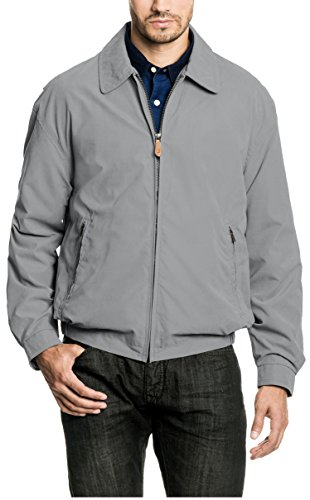 (London Fog Men's Auburn Zip-Front Golf Jacket (Regular & Big-Tall Sizes), Steeple Grey, Large)
