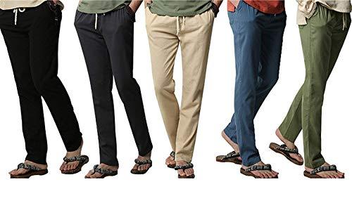 Avec De Pantalons Couleur Nvfshreu Pour Simple Style Beige Unie Hommes Légers Plage Décontractés ZqgwOHz