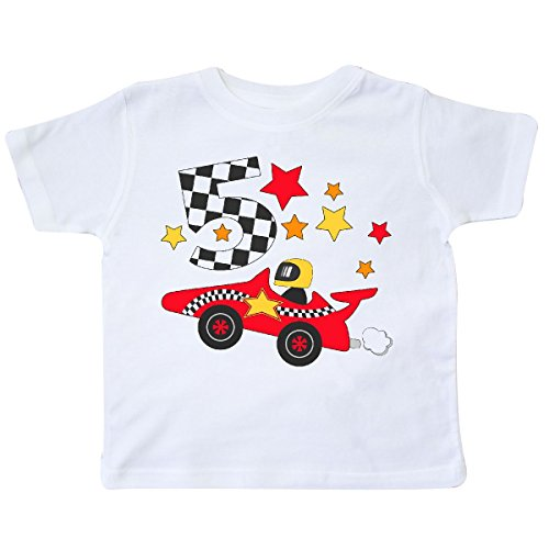 inktastic - Happy 5th Birthday -red Racing car Toddler T-Shirt 5/6 (5th Birthday Toddler T-shirt)
