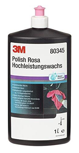 3M 80345N Polierpaste Polish Rosa Hochleistungswachs, 1000 ml