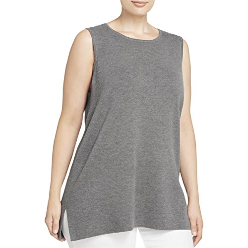 Eileen Fisher Womens Plus Wool Knit Tank Top Gray 3X by Eileen Fisher