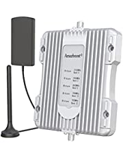 Amazboost Cell Phone Booster for Car, Truck,RV or SUV,Vehicle 5 Bands Cell Phone Signal Booster Compatible with All Canadian Carriers - Bell, Telus, Rogers, Fido & More  Amplifies 4G LTE 3G 2G Signal