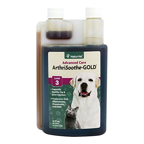 NaturVet ArthriSoothe-GOLD Level 3 Advanced Joint Care for Dogs and Cats, 32 oz Liquid  , Made in USA by NaturVet