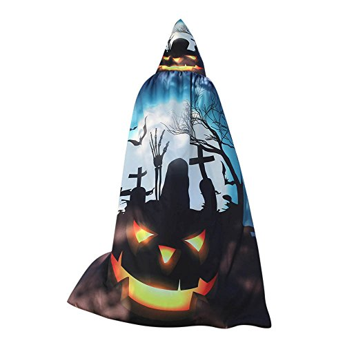 WOCACHI Halloween Costume Hooded Cape, Women Cloak Scarves Wrap Poncho Novelty Party Show Clearance Sale Promotion Festival Ladies Dress Up Accessory -