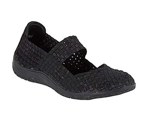 67a19e5e5 Zee Alexis Women's Sammi Woven Mary Jane Shoe Black Metallic 41 US 10-10.5 M
