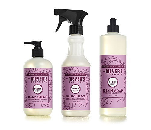 Mrs Meyers Clean Day Limited Edition Peony Scent Kitchen Basics Set (Scent Peony)