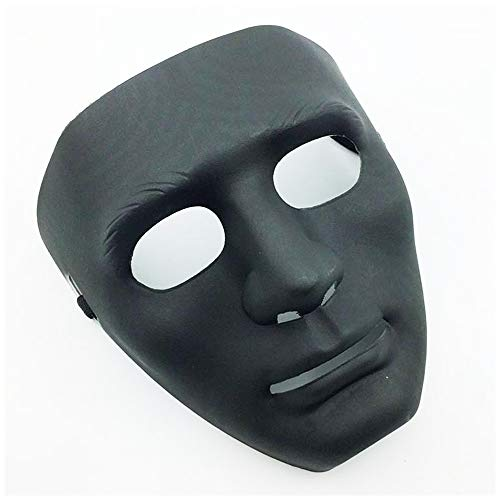 LW Full Face Mask, Stage Party Dance Halloween Mask for Hip Hop Dance Opera (Black)]()