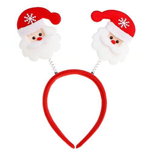 Whoville Costumes Halloween (Itemap Christmas Santa Claus Reindeer Antlers Headband Hair Band Head Hoop Headwear (#1: Santa Claus))