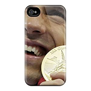 Premium LIJzzNO2748PJsuC Case With Scratch-resistant/ Michael Phelps Case Cover For Iphone 4/4s