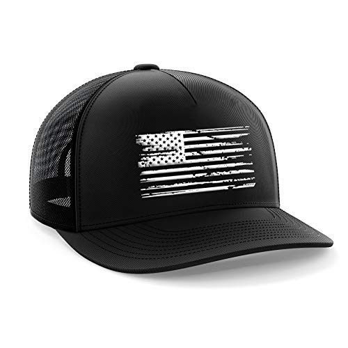 Tactical Pro Supply American Flag Distressed Snapback Hat