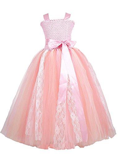 Tutu Dreams Blush Pink Birthday Costume for Girl with Removable Sash (10, Blush Pink)