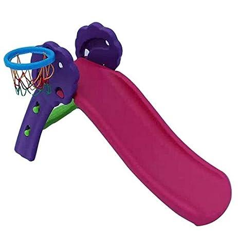 Ruhiku Childrenu0027s Basketball Hoop Indoor Slide Up And Down The Slide  Children Slide Plastic Toy Slide