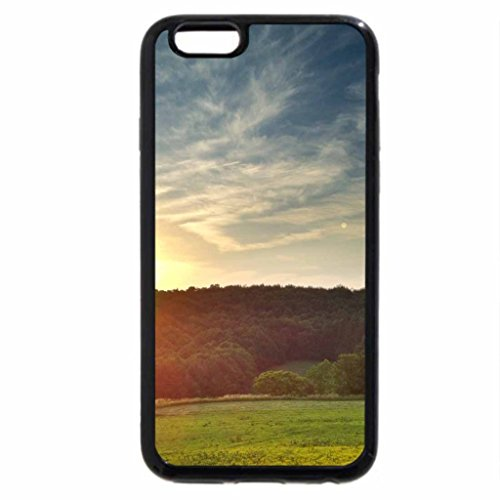 iPhone 6S / iPhone 6 Case (Black) Mountian Sunset