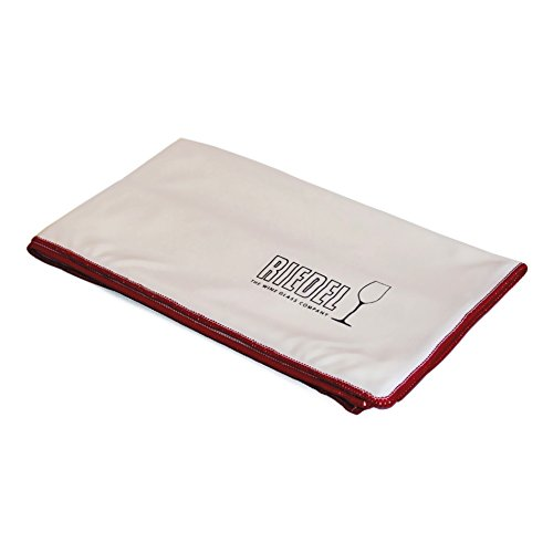 Riedel White Crystal Microfiber Cleaning Cloth Wipe, Set of 3