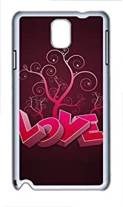 Samsung Galaxy Note 3 N9000 Case,3D Heart And Tree PC Hard Plastic Case for Samsung Galaxy Note 3 N9000 Whtie