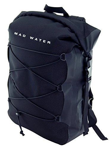 Mad Water Waterproof Classic Roll-Top Backpack, Black, 30 L