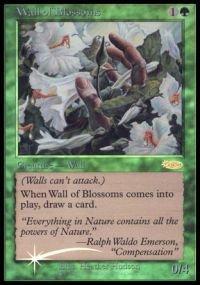 Magic  the Gathebague - Wall of Blossoms - FNM 2002 - FNM Promos - Foil by Magic  the Gathebague