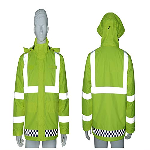 GSHWJS- trash can Reflective Cotton Jacket Winter Traffic Duty Warning Safety Jacket Detachable Cotton Suit, Green Reflective Vests (Size : S) by GSHWJS- trash can (Image #6)