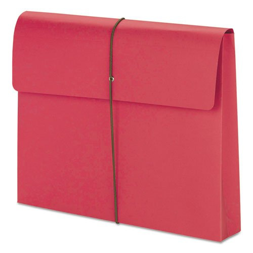 Two Inch Accordion Expansion Wallet with String, Letter, Red, 10/BX, Sold as 10 ()