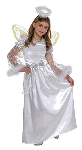 Xmas Angel Girls Fancy Dress Festive Nativity Play Kids Childrens Costume by Party Parade