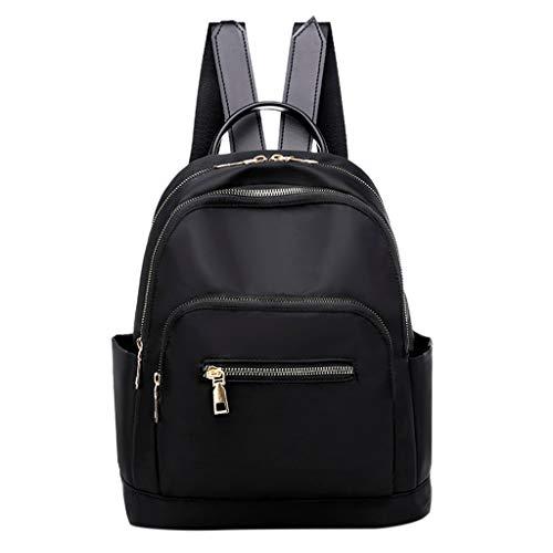 DZTZ Women's Fashion Bag Large Capacity Computer Bag Student Backpack Shoulder Bag (Black)