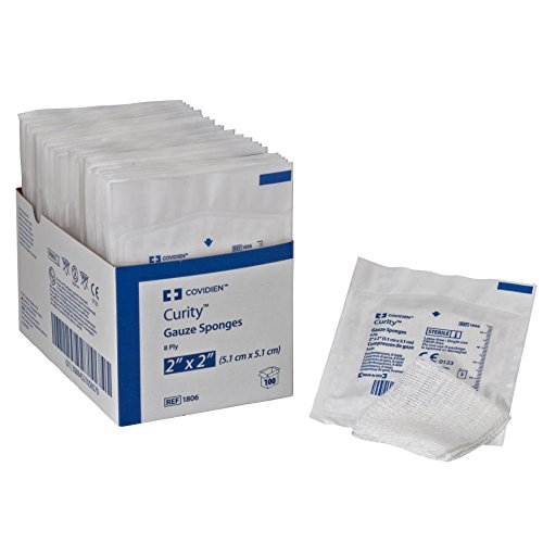 Sterile Gauze Dressing (Covidien 1806 Curity Gauze Sponge, Sterile 2's in Peel-Back Package, 2