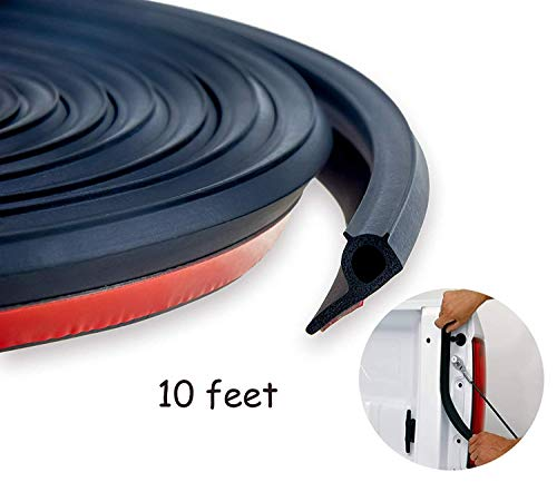 Pickup Door Weatherstripping - Oiyeefo 10ft Universal Adhesive Tailgate Seal Kit with Taper for Pickup Truck Bed