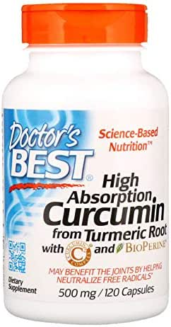 Doctor's Best, (2 Pack) Curcumin, High Absorption, 500 mg, 120 Capsules