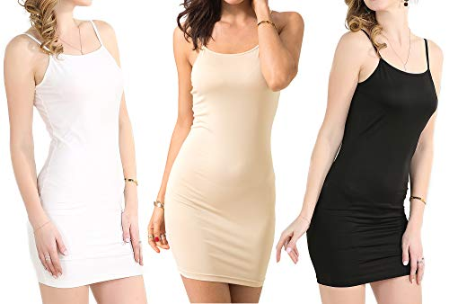 Basic Mini Colors Zevrez Dress Seamless Spaghetti 3 Stretchy Sexy Women's Slip Strap Camisole 5UTw6Uzqx