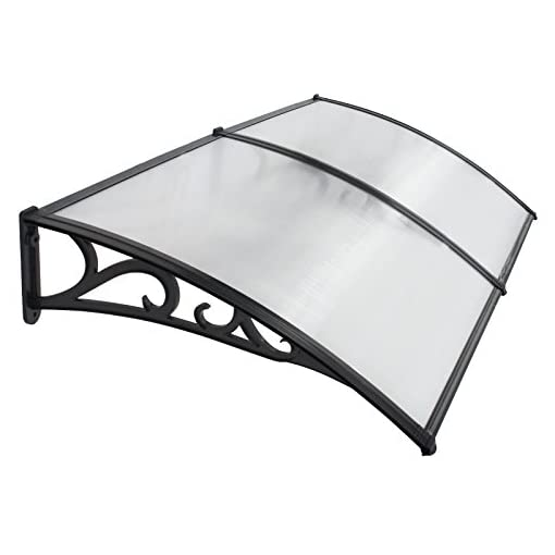 Garden and Outdoor 40×80 Inches Window Awning Door Canopy Polycarbonate Cover Outdoor Front Door Patio Sun Shetter (Pattern 1pcs) patio awnings
