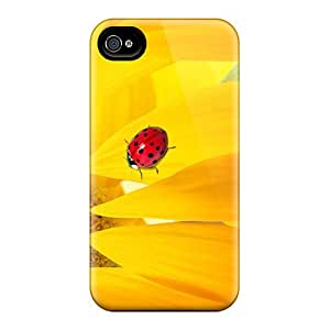 JFI20666ziLw Cases Skin Protector For Iphone 6 Sunflower Ladybug With Nice Appearance