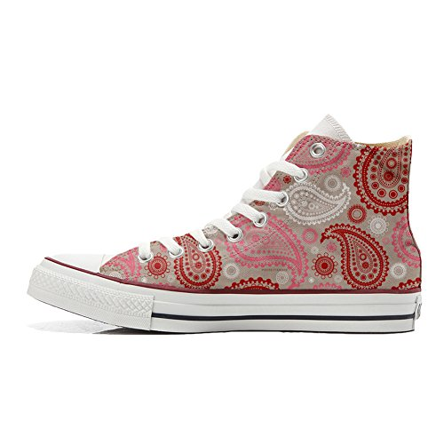 Producto Red Artesano Converse Personalizados Pink Unisex Zapatos Star All Paisley wvw0q1X