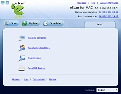 eScan For Antivirus MAC 1 user 3 year [Download]