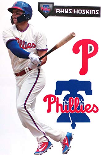 Rhys Hoskins FATHEAD TEAMMATE Graphic Philadelphia Phillies Logo Set Official MLB Vinyl Wall Graphics 17