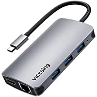Victsing 8-in-1 Type C Hub Adapter with Ethernet Port