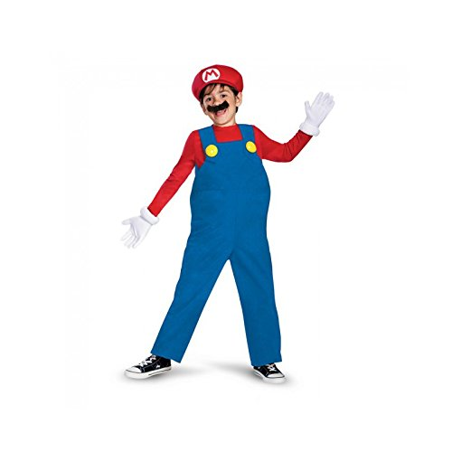 Mario and Luigi Child Costume Mario (red & blue) - Large]()