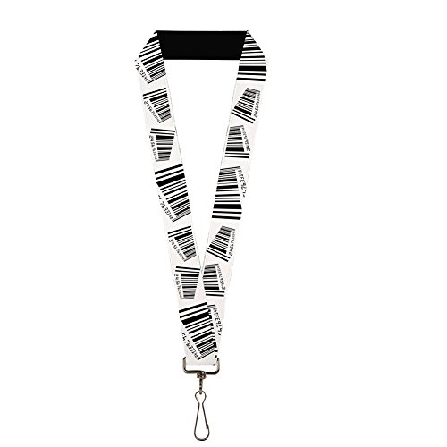Buckle-Down Lanyard - Barcode (Barcode Key Tags)